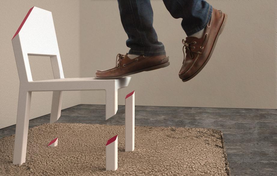 Tek Bacaklı Sandalye