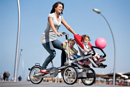 Bisikletli Bebek Arabası