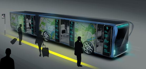 LCD Ekranlı Otobüs